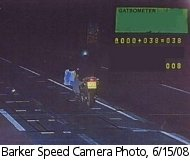 Barker speed camera photo, 6/15/08