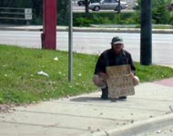 Generic panhandler photo