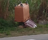 Trash canned speed camera