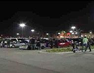 Parking lot raid