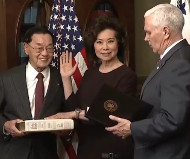 Elaine Chao sworn in by vice president