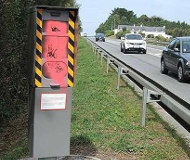 Pink speed camera in France