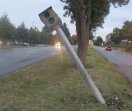 German bent speed camera