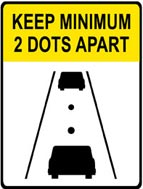 Washington 2 dots 2 safety sign