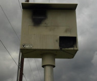 North Potomac speed camera painted