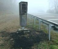 Saone speed camera burned