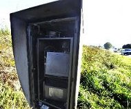 Burned speed camera