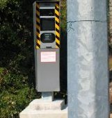 French speed camera photographs pole