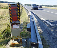 Haute Loire painted speed camera