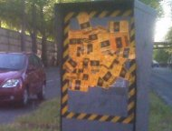 French speed  camera stickered