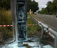 Scorched speed camera
