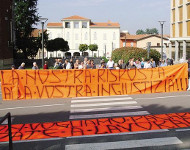 Italian speed camera protest