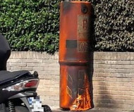 Burnt Italian speed camera