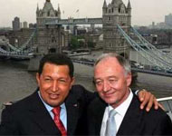 Hugo Chavez with Ken Livinstone