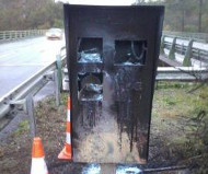 RN165 speed camera torched