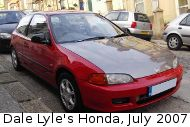 Lyle Honda Civic, July 2007