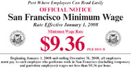 San Francisco minimum wage