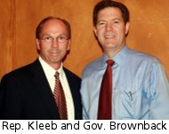 Marvin Kleeb and Sam Brownback