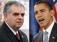 President Obama and Sec. LaHood