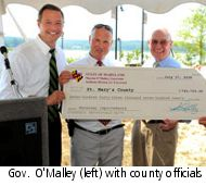 Maryland Governor with check