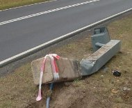 Flattened Polish speed camera