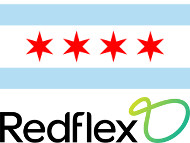 Chicago and Redflex logos