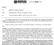 Reflex legislative affairs memo