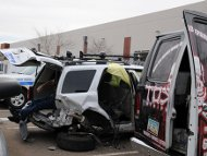 Redflex van crash, photo by Glyph