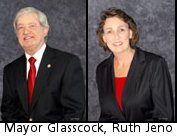Mayor Glasscock, Ruth Jeno