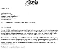 Davis rejection letter