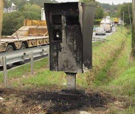 Burned camera in Rillan, France