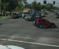 Red light camera crash