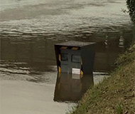 Flooded speed camera near Paris