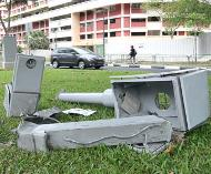 Singapore battered speed camera