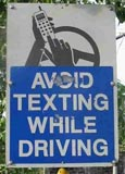 Anti-texting sign