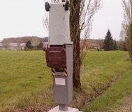 Trashed speed camera