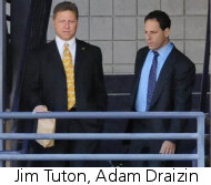 Jim Tuton, Adam Draizin at trial