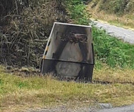 French speed camera torched