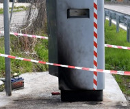 Avellino speed camera burned