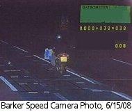 Barker speed camera photo, 6/15/08