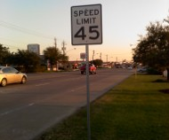 Baytown 45 mph sign