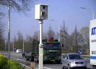 Speed camera in Belgium