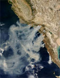 California fires satellite photo