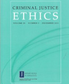 Criminal Justice Ethics cover