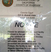 Corona courthouse sign