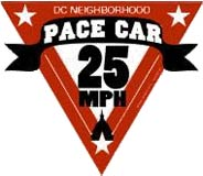 DC Pace Car sticker