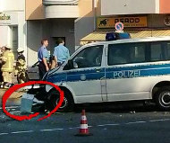 Berlin speed camera crash