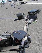 Smashed German speed camera