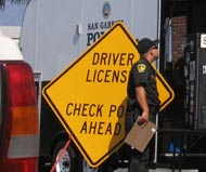 Driving license checkpoint