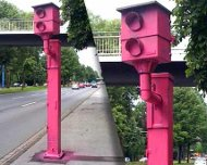 Pink speed cameras in Germany
